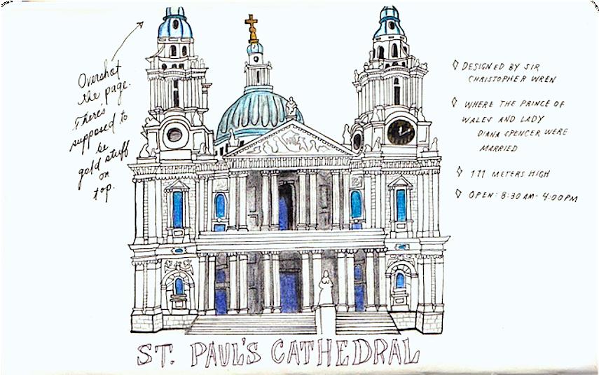 Moleskin Sketches - St. Paul's